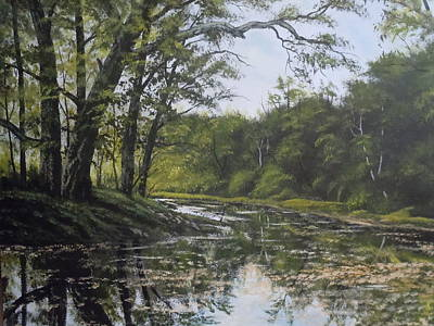 Summer Creek Reflections Art Print by James Guentner