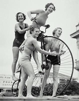 Summer Cyclists Art Print