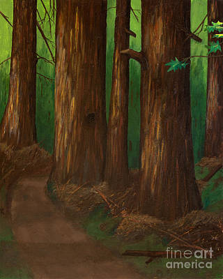 Painting - Summer Day In A Dark Forest by L J Oakes