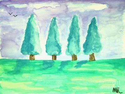 Summer Day Art Print by Marsha Heiken