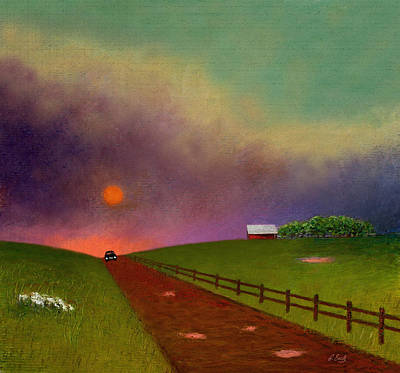 Midwest Mixed Media - Summer Dustup by Gordon Beck
