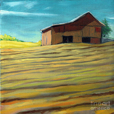 Old Barn Painting - Summer Farmland by Linda Apple