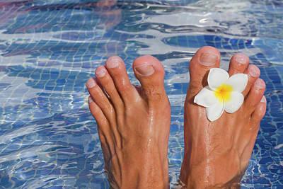 Part Of Photograph - Summer Feet by Alex Bramwell
