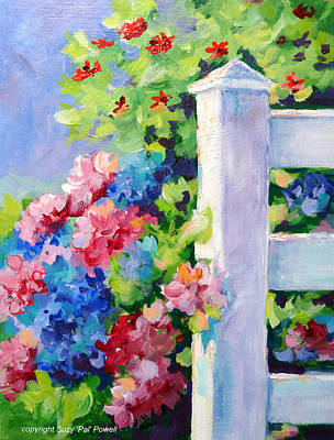 Myrtle Beach Painting - Summer Fence by Suzy Pal Powell