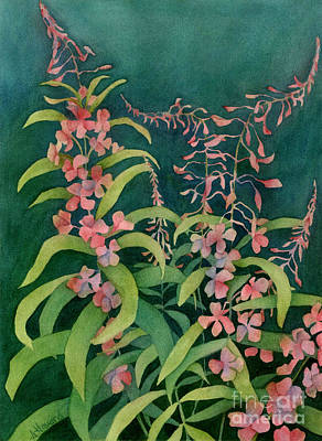 Painting - Summer Fireweed by Anne Havard