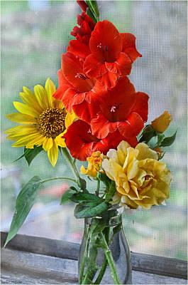 Summer Floral Art Print by Debbie Portwood