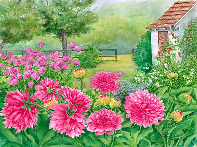 Painting - Summer Garden by Barbel Amos