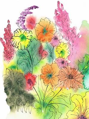 Summer Garden Art Print by Christine Crawford