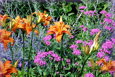 Art Print featuring the photograph Summer Garden by Tanya  Searcy
