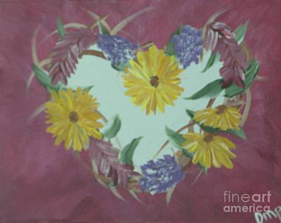 Photograph - Summer Heart Wreath by Donna Brown