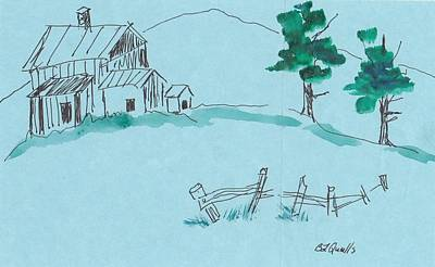 Painting - Summer House by B L Qualls