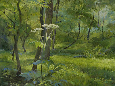 Painting - Summer In Fullersburg Woods by Judith Barath