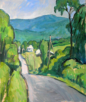 Abstract Realist Landscape Painting - Summer In The Berkshires by Thor Wickstrom