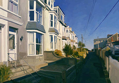 Hill Painting - Summer Light Over Barnoon Hill by Nop Briex