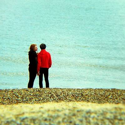 Norfolk Wall Art - Photograph - Summer Lovin' #couple #love #red #man by Invisible Man