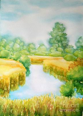 Painting - Summer Marsh by Inese Poga