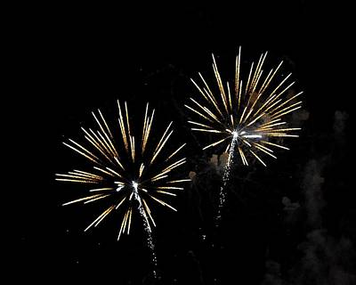 Photograph - Summer Night Fireworks by John Black