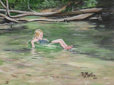 Painting - Summer On The Creek by Roberta Martin
