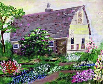 Pastel Barns Painting - Summer On The Flower Farm by Maureen Marie Sundstrom