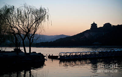 Lego Art - Summer Palace Evening by Mike Reid