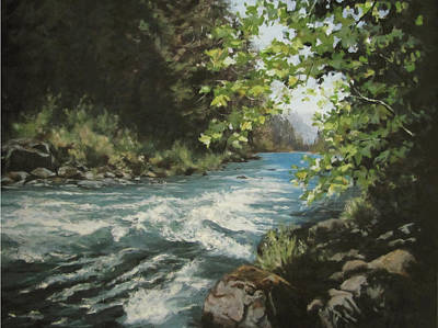 Painting - Summer River by Karen Ilari