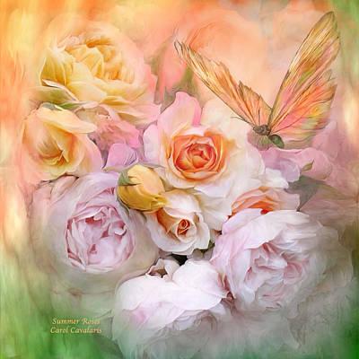 Mixed Media - Summer Roses by Carol Cavalaris