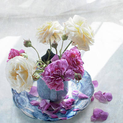 Old Jugs Photograph - Summer Roses by Jill Ferry