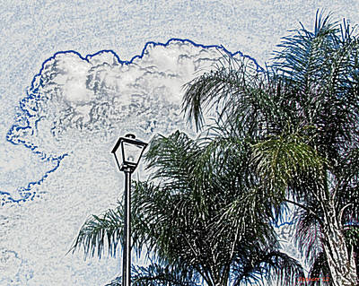Photograph - Summer Sky Sketch by T Guy Spencer