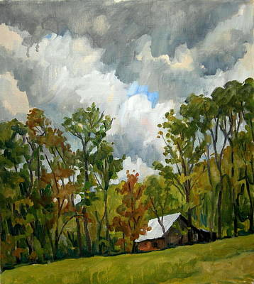 Abstract Realist Landscape Painting - Summer Sky by Thor Wickstrom