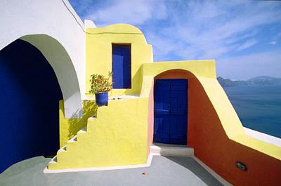 Photograph - Summer Sleeping House-santorini by John Galbo