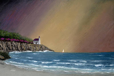 Summer Storm Painting - Summer Squall by Gordon Beck