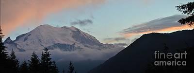 Summer Sunset On Mt. Rainier Art Print