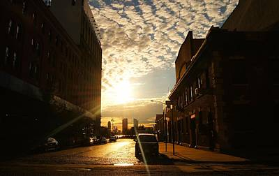 City Sunset Photograph - Summer Sunset Over A Cobblestone Street - New York City by Vivienne Gucwa