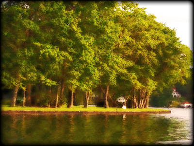 Photograph - Summer Trees Lake Hopatcong New Jersey by Maggie Vlazny