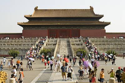 Summertime Crowds, Forbidden City, Dongcheng Art Print