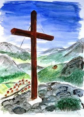 Summit Cross Art Print
