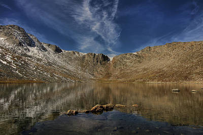 Art Print featuring the photograph Summit Lake In September by Stephen  Johnson
