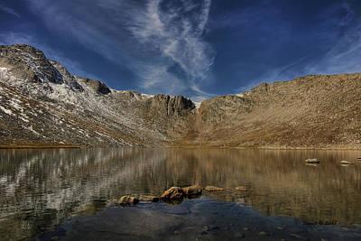 Summit Lake In September Art Print by Stephen  Johnson