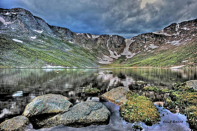 Art Print featuring the photograph Summit Lake Tundra And Granite by Stephen  Johnson