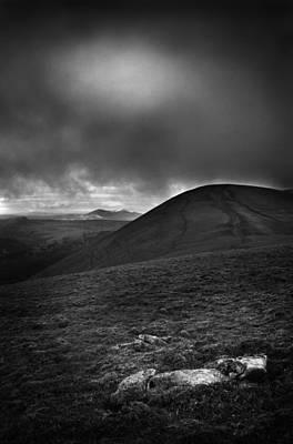 Photograph - Summit Of Ben Wyvis Bw by Joe Macrae