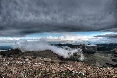 Summit View On Mount Evans Art Print by Stephen  Johnson