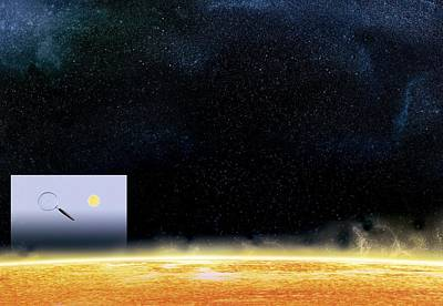 Sun And Betelgeuse, Artwork Art Print by Claus Lunau