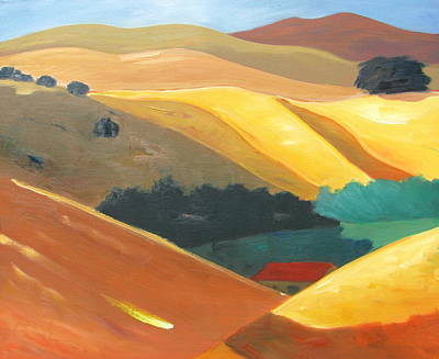 Distant Mountains Painting - Sun And Shadow by Gary Coleman