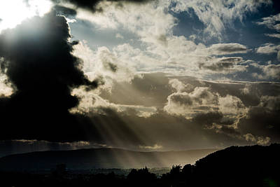 Lightscapes Photograph - Sun Breaks Through The Clouds by Hakon Soreide