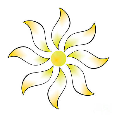 Digital Art - Sun Daisy by Alycia Christine