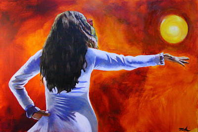 Painting - Sun Dancer by Jerry Frech