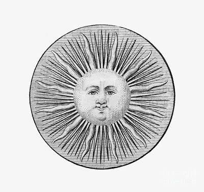 Sun Face, Decorative, 1751 Print by Granger