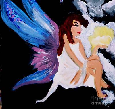 Sun Fairy Art Print by Marie Bulger