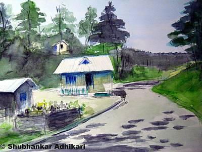 Base Path Painting - Sun In Full Swing by Shubhankar Adhikari
