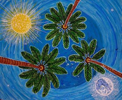 Farishields Painting - Sun Moon And Stars by Far I Shields